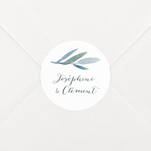 Stickers pour enveloppes mariage Belle saison blanc - Vue 2
