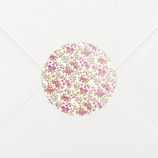 Stickers pour enveloppes baptême Croix liberty rose - Vue 2