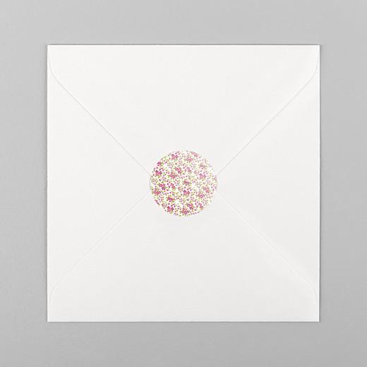 Stickers pour enveloppes baptême Croix liberty rose - Vue 1