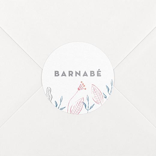 Stickers pour enveloppes naissance Allégresse bleu - Vue 2