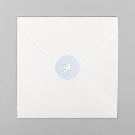 Stickers pour enveloppes naissance Allégresse bleu - Vue 1