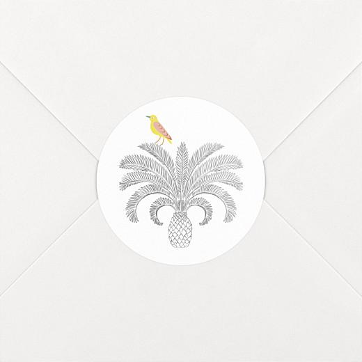 Stickers pour enveloppes naissance Oiseaux de paradis blanc - Vue 2