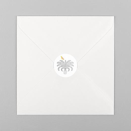 Stickers pour enveloppes naissance Oiseaux de paradis blanc - Vue 1