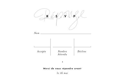 Carton réponse mariage Le fil taupe - Page 2