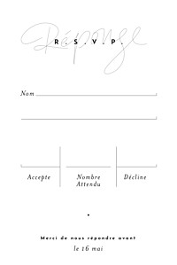 Carton réponse mariage gris le fil portrait taupe