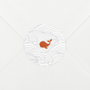 Stickers Naissance Baleines en voyage blanc
