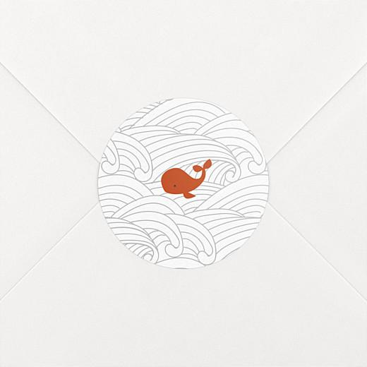 Stickers Naissance Baleines en voyage blanc - Vue 2