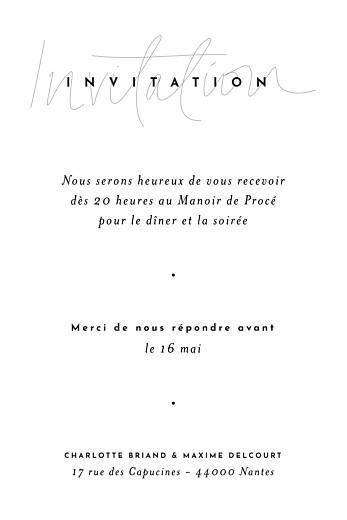 Carton d'invitation mariage Le fil (portrait) beige - Page 2