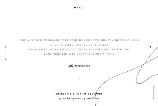 Carte de remerciement mariage Le fil beige - Page 2