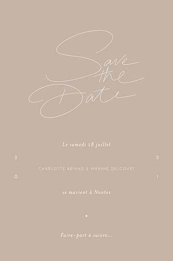 Save the Date Le fil beige