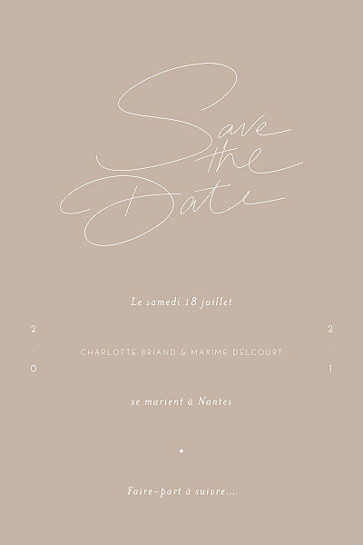 Save the Date Le fil beige finition