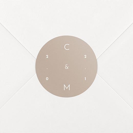 Stickers mariage Le fil beige - Vue 2