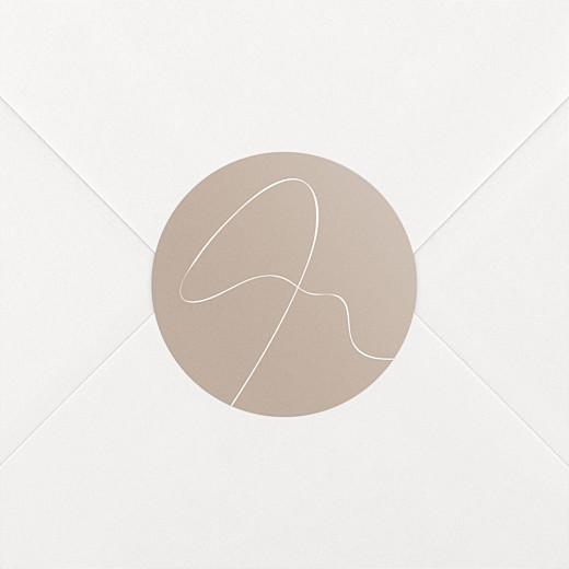 Stickers pour enveloppes mariage Le fil beige - Vue 2