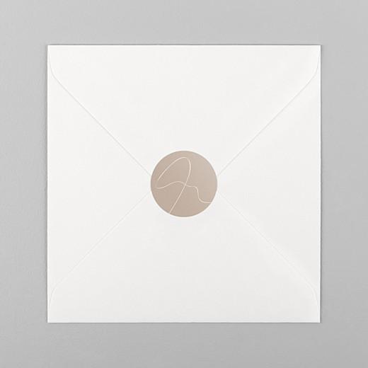 Stickers pour enveloppes mariage Le fil beige - Vue 1