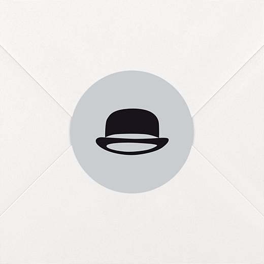 Stickers pour enveloppes baptême Dandy gris - Vue 2