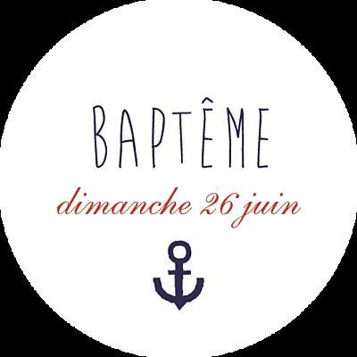 Stickers pour enveloppes baptême Matelot bleu finition