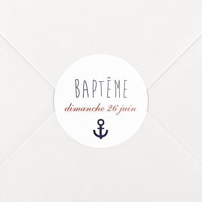Stickers baptême matelot bleu