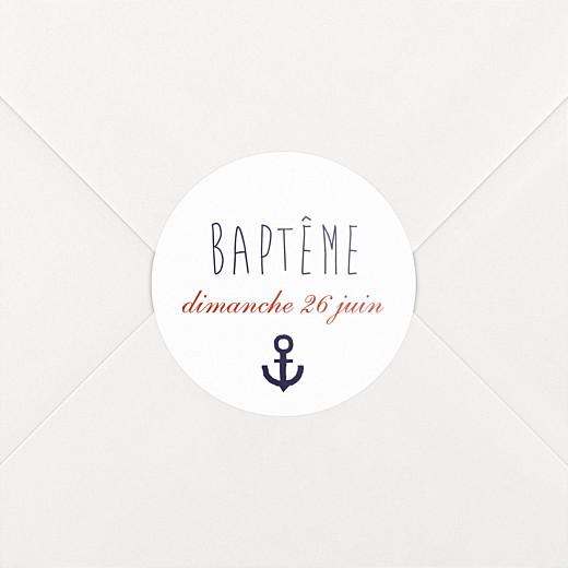Stickers baptême Matelot bleu - Vue 2