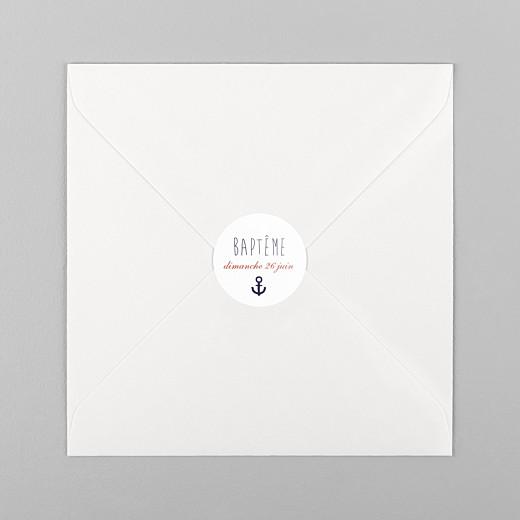 Stickers baptême Matelot bleu - Vue 1
