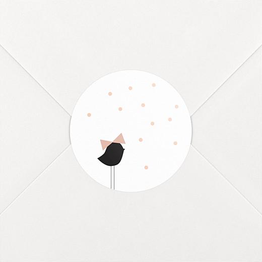 Stickers pour enveloppes baptême Lovely kid rose - Vue 2