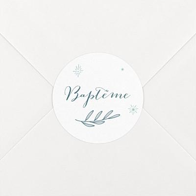 Stickers baptême douce colombe bleu