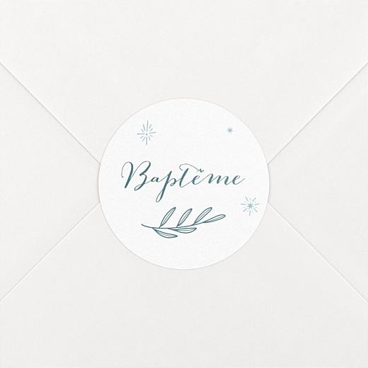 Stickers baptême Douce colombe bleu - Vue 2