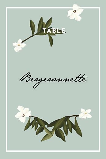 Marque-table mariage Bahia bleu