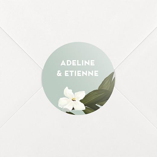 Stickers pour enveloppes mariage Bahia bleu - Vue 2