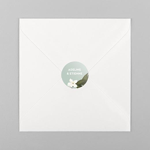 Stickers pour enveloppes mariage Bahia bleu - Vue 1