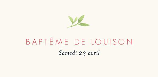 Marque-place Baptême Fleurs aquarelle crème - Page 4