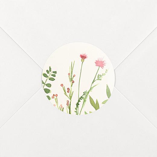 Stickers baptême Fleurs aquarelle crème - Vue 2