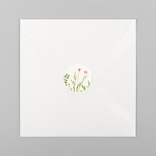 Stickers baptême Fleurs aquarelle crème - Vue 1
