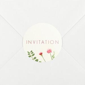 Stickers pour enveloppes baptême Fleurs aquarelle crème