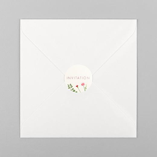 Stickers pour enveloppes baptême Fleurs aquarelle crème - Vue 1