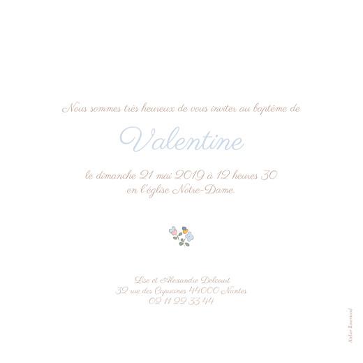 Faire-part de baptême Jardin fleuri bleuet - Page 2
