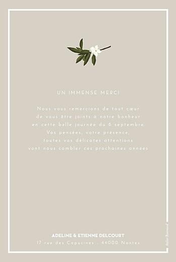 Carte de remerciement mariage Bahia beige - Page 2