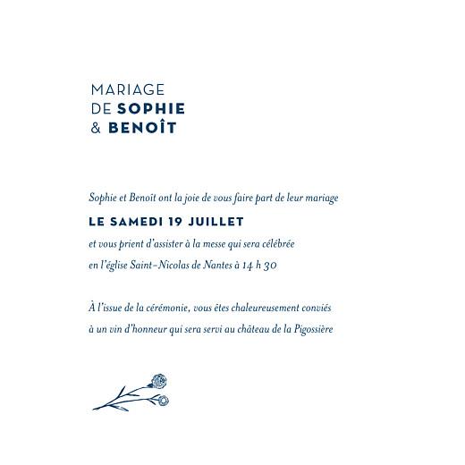 Faire-part de mariage Laure de sagazan bleu marine - Page 3