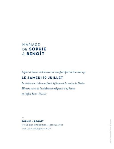 Faire-part de mariage Laure de sagazan bleu - Page 2