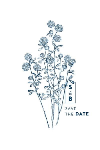 Save the Date Laure de sagazan bleu finition