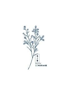 Livret de messe mariage blanc laure de sagazan bleu marine