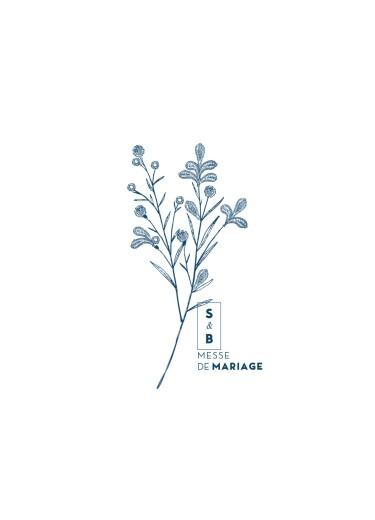Livret de messe mariage Laure de sagazan bleu marine