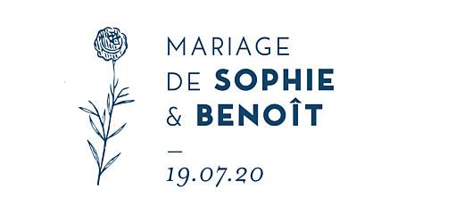 Etiquette de mariage Laure de sagazan bleu