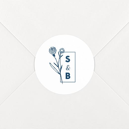 Stickers pour enveloppes mariage Laure de sagazan blanc - Vue 2