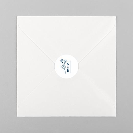 Stickers pour enveloppes mariage Laure de sagazan blanc - Vue 1