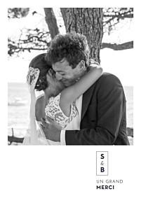 Carte de remerciement mariage champêtre laure de sagazan (dorure) blanc