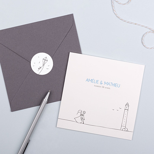 Stickers mariage Promesse cerf-volant - Gamme