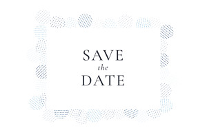 Save the date sequins bleu
