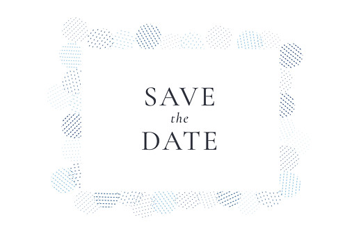 Save the Date Sequins bleu - Page 1