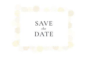 Save the date jaune sequins jaune