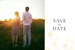 Save the date jaune sequins photo jaune